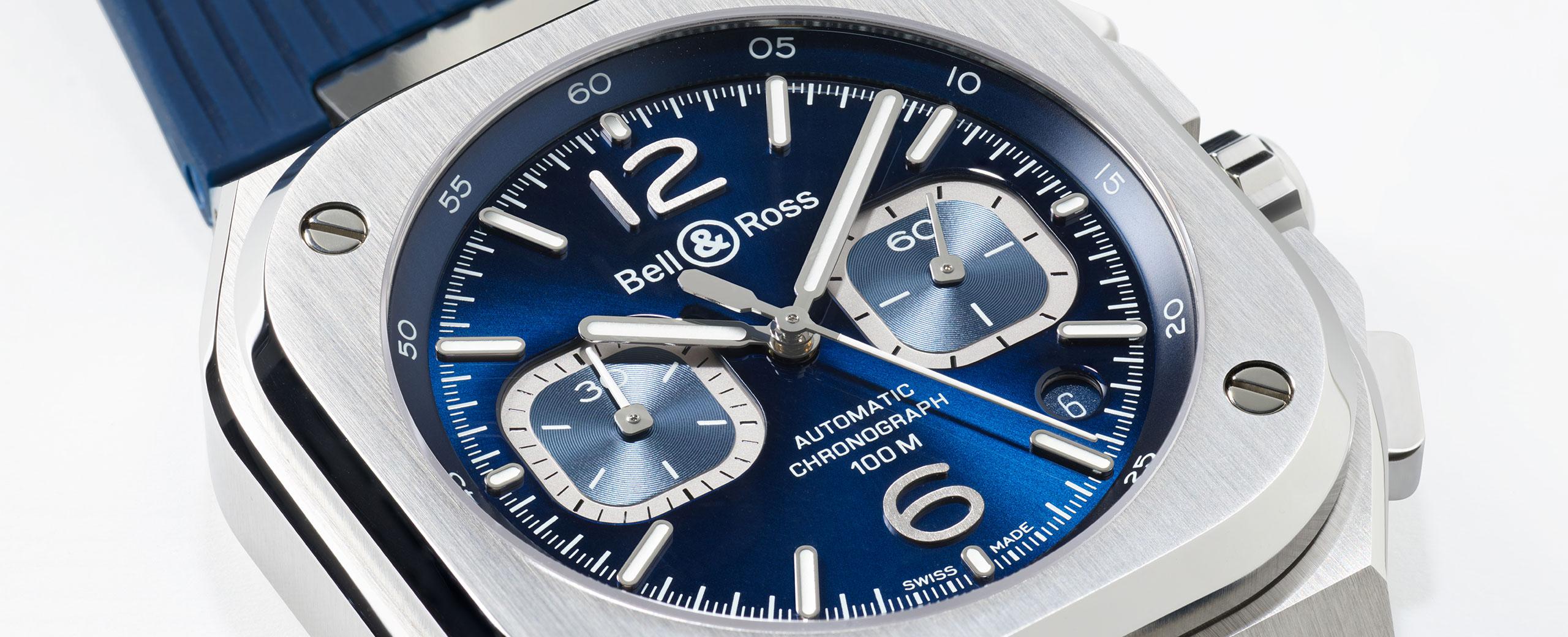 BR 05 CHRONO BLUE STEEL