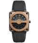 BR 01 COMPASS ROSE GOLD & CARBON