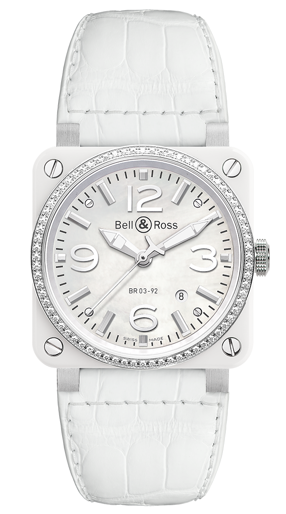 BR 03 WHITE CERAMIC DIAMONDS