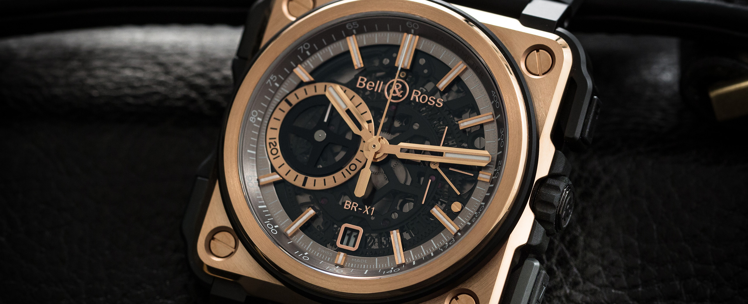 BR-X1 ROSE GOLD & CERAMIC