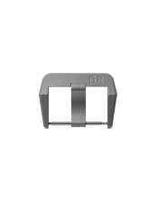 BR S Microblasted steel pin buckle