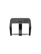 BR 123 - BR 126 - BR V2 steel pin buckle with matte black PVD finish