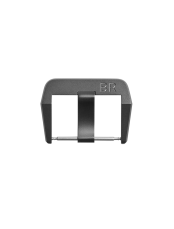 BR 01 - BR 03 microblasted titanium pin buckle with grey PVD finish