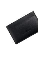 Black calfskin card holder