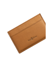 Camel calfskin card holder
