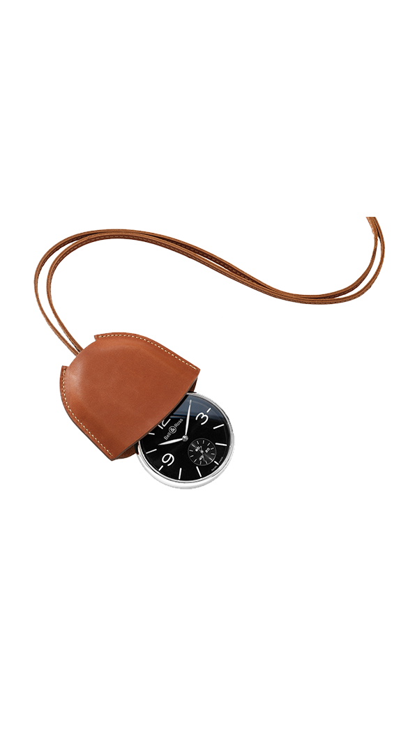 PW1 brown calfskin case with strap