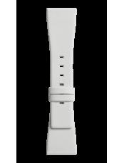 BR S white satin-effect strap