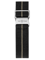 BR 123 - BR 126 - BR V2 black and beige elastic canvas strap