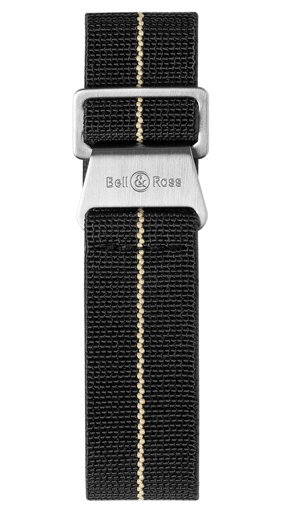 BR 123 - BR 126 - BR V2 - BR V3 black and beige elastic canvas strap