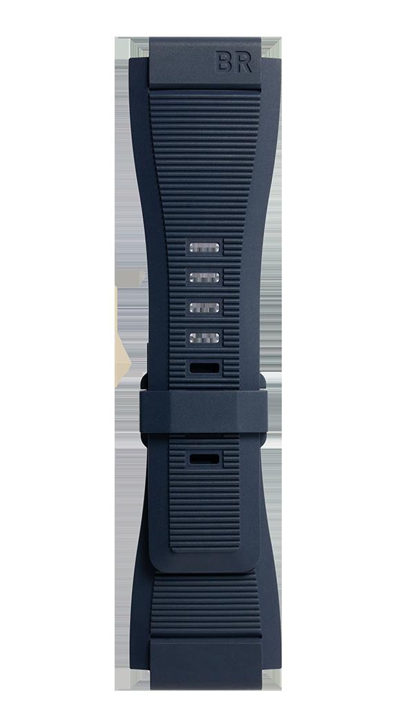 Bracelet en caoutchouc strié bleu  BR-X1 - BR 01 - BR 03