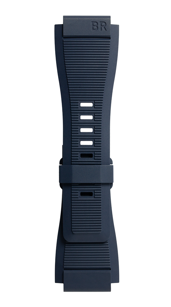 Cinturino in gomma striata blu BR 01 - BR 03 - BR-X1