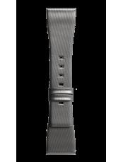 Bracelet en cuir de veau de couleur gris satin BR S