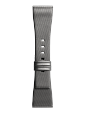 Armband aus grau satiniertes Kalbsleder BR S