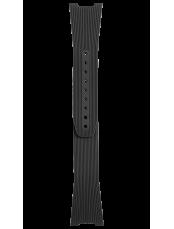 BR 05 black grooved rubber strap