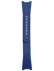 BR 05 blue grooved rubber strap