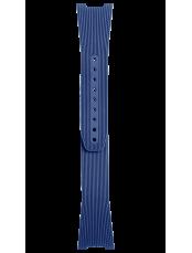 Bracelet en caoutchouc strié bleu  BR 05