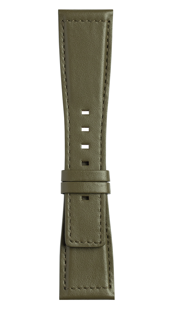 BR S Khaki calfskin strap