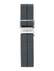 BR 123 - BR 126 - BR V2 grey and blue elastic canvas strap