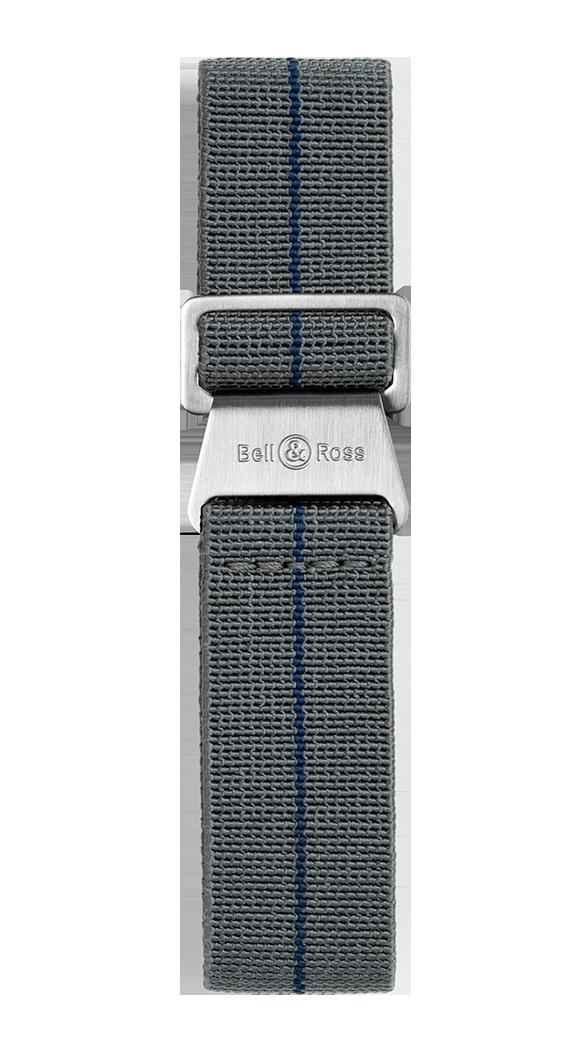 BR 123 - BR 126 - BR V2 - BR V3 grey and blue elastic canvas strap