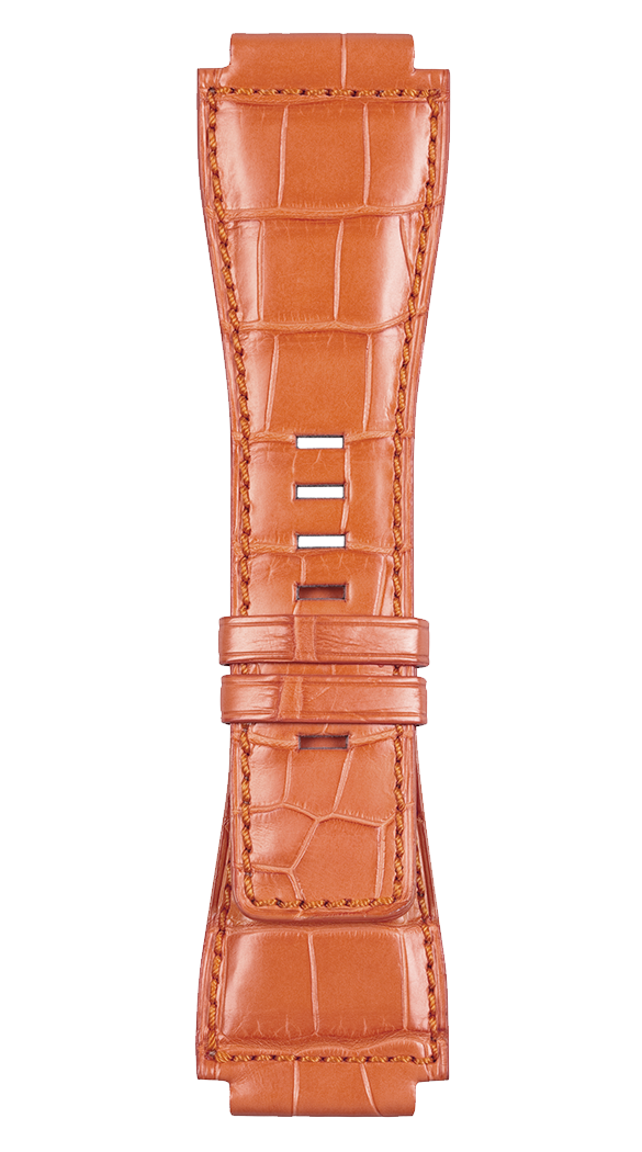 BR-X1 - BR 01 - BR 03 orange alligator strap