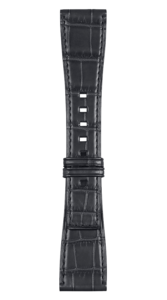 BR S grey alligator strap