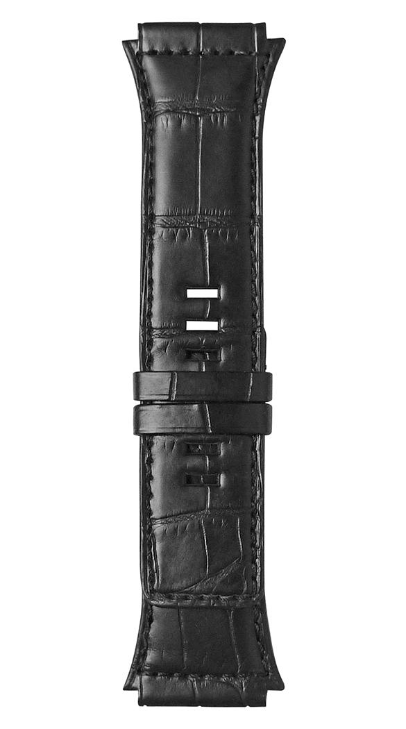 Armband aus schwarzem Alligatorleder BR 02.
