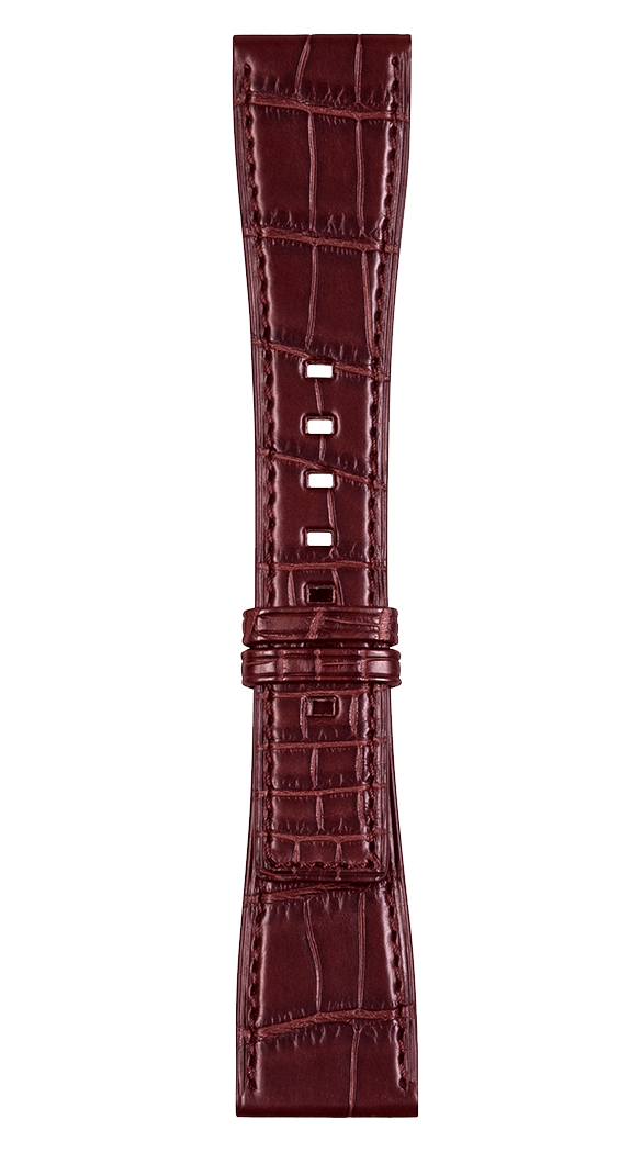 BR S burgundy alligator strap