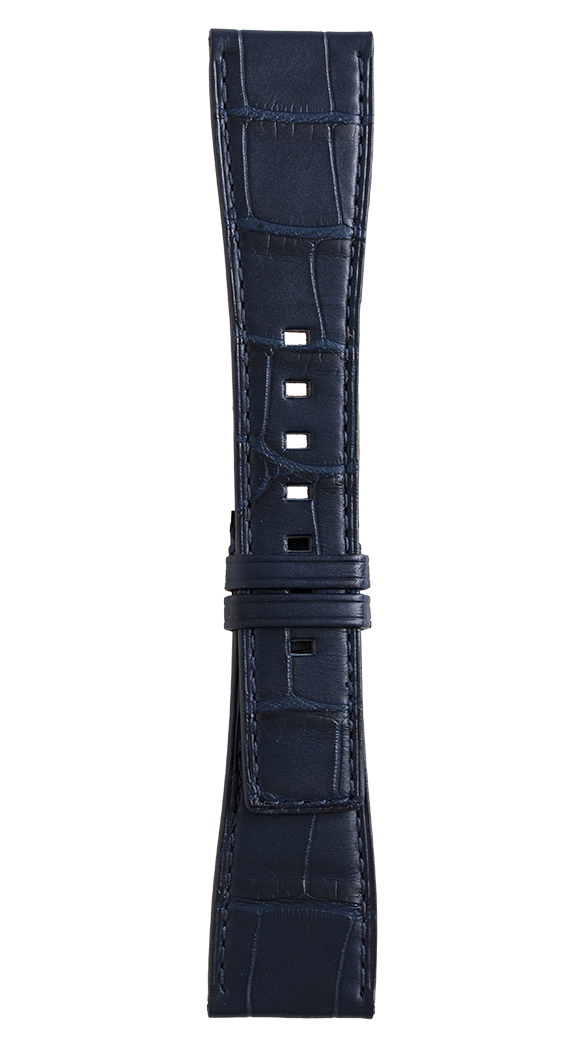 BR S Blue alligator strap