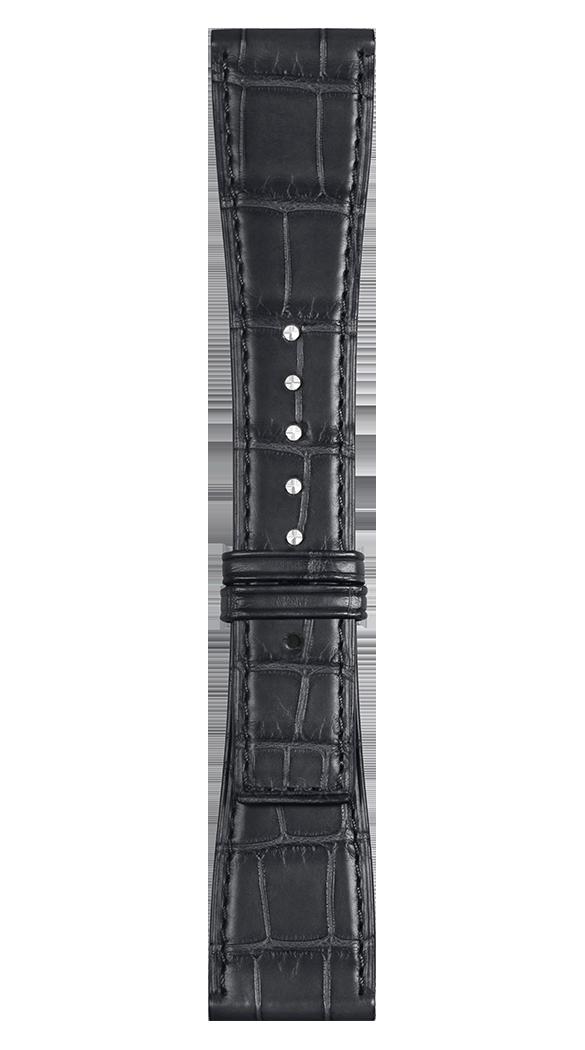 Correa de piel de aligátor gris para relojes BR-X2