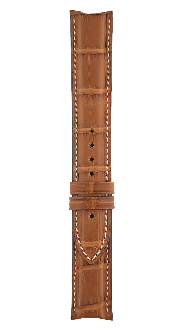 Vintage - Geneva - Function mid brown alligator strap