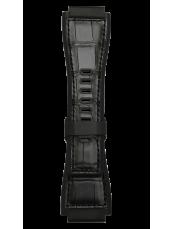 Schwarzes Bimaterial-Armband BR-X1 - BR 01 - BR 03.