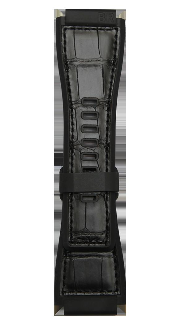 Bracelet bi-matière noir BR-X1 - BR 01 - BR 03