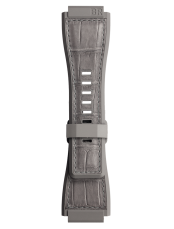 BR-X1 - BR 01 - BR 03 Bi-material rubber and alligator grey strap