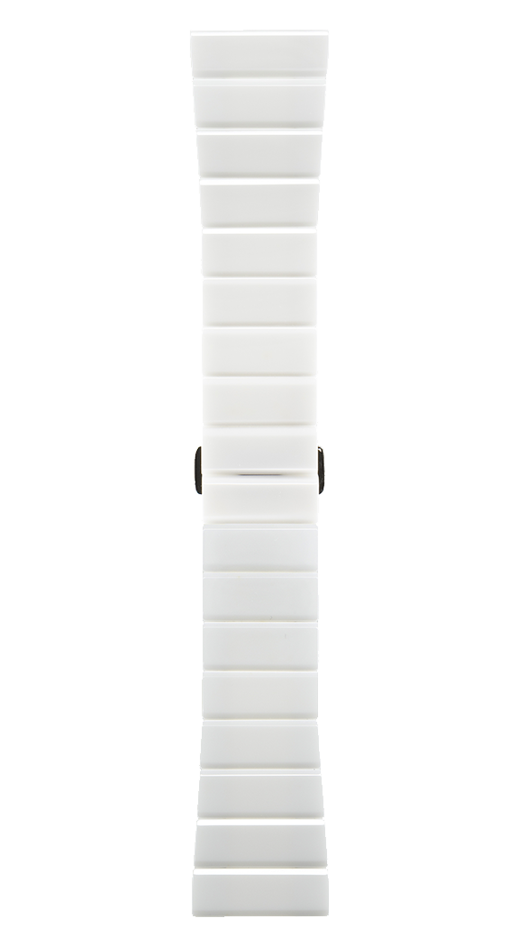BR S 用ポリッシュ仕上げホワイトセラミックブレスレット。