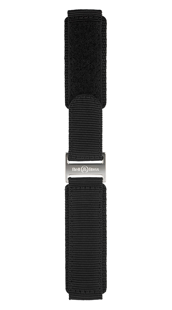 Professional range black synthetic fabric strap