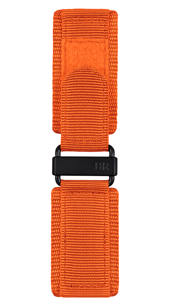 BR-X1 - BR 01 - BR 03 orange synthetic fabric strap