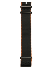 BR 123 - BR 126 - BR V2 black and orange NATO strap