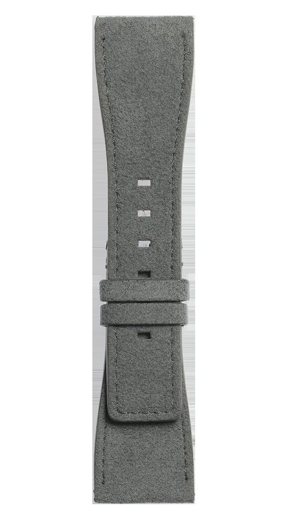 Cinturino in Alcantara® grigio BR S