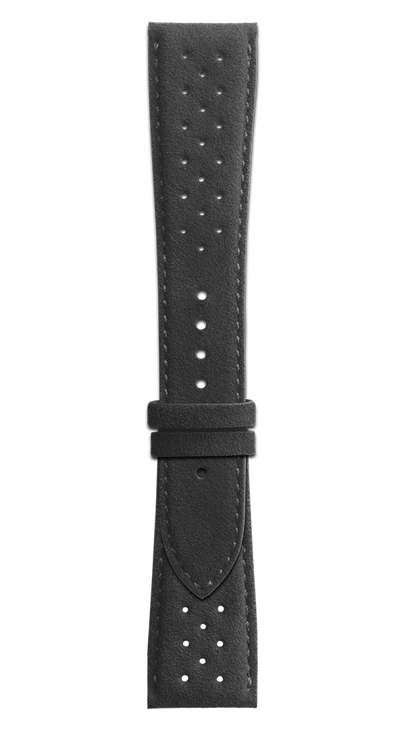 BR 123 - BR 126 - BR V2 perforated black Alcantara® strap