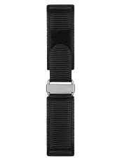 BR 02 black synthetic fabric strap
