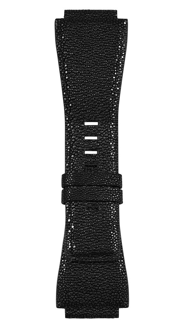Correa de galuchat negra para relojes BR-X1 - BR 01- BR 03.