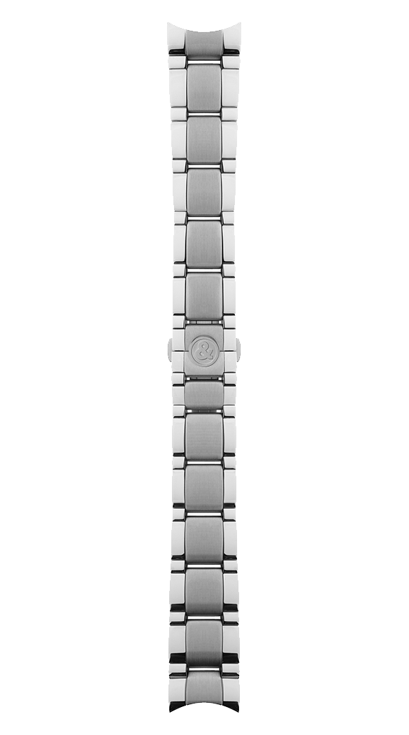Geneva 123 - Function polished and satin-finished steel strap