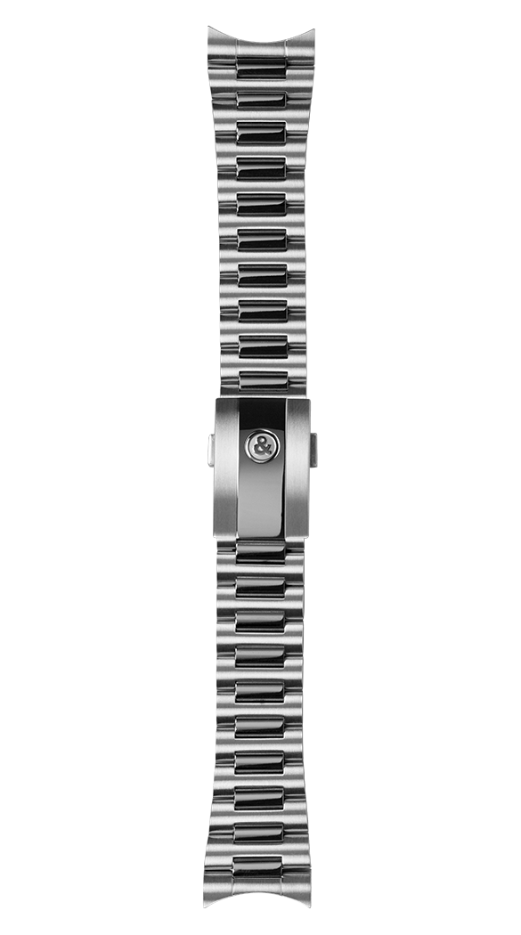 BR V2-94 polished and satin-finished steel strap