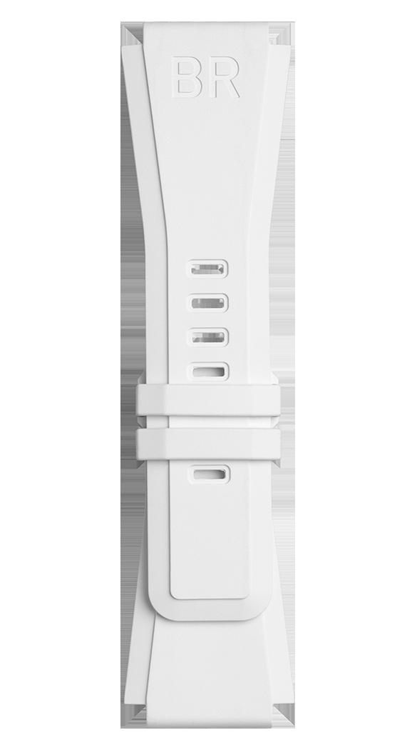 Correa de caucho blanco para relojes BR-X1 - BR 01 - BR 03.