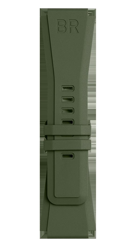 BR-X1 - BR 01 - BR 03 카키색 고무 스트랩.