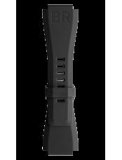 Bracelet en caoutchouc noir  BR-X1 - BR 01 - BR 03