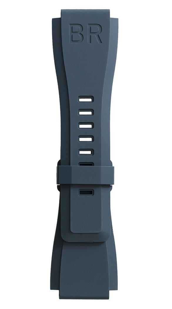 BR-X1 - BR 01 - BR 03 blue rubber strap