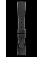 Armband aus schwarzem Kautschuk mit Flechtmuster BR 123 - BR 126 - BR V2