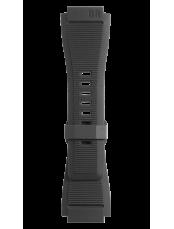 Armband aus schwarzem gerilltem Kautschuk BR-X1 - BR 01 - BR 03