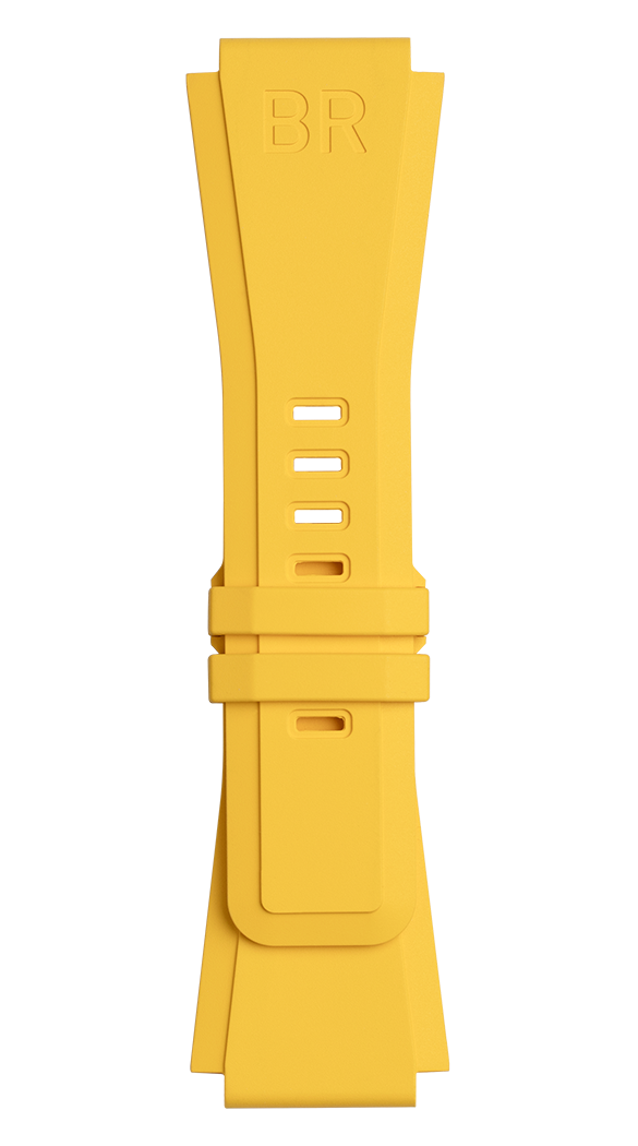 BR-X1 - BR 01 - BR 03 yellow rubber strap